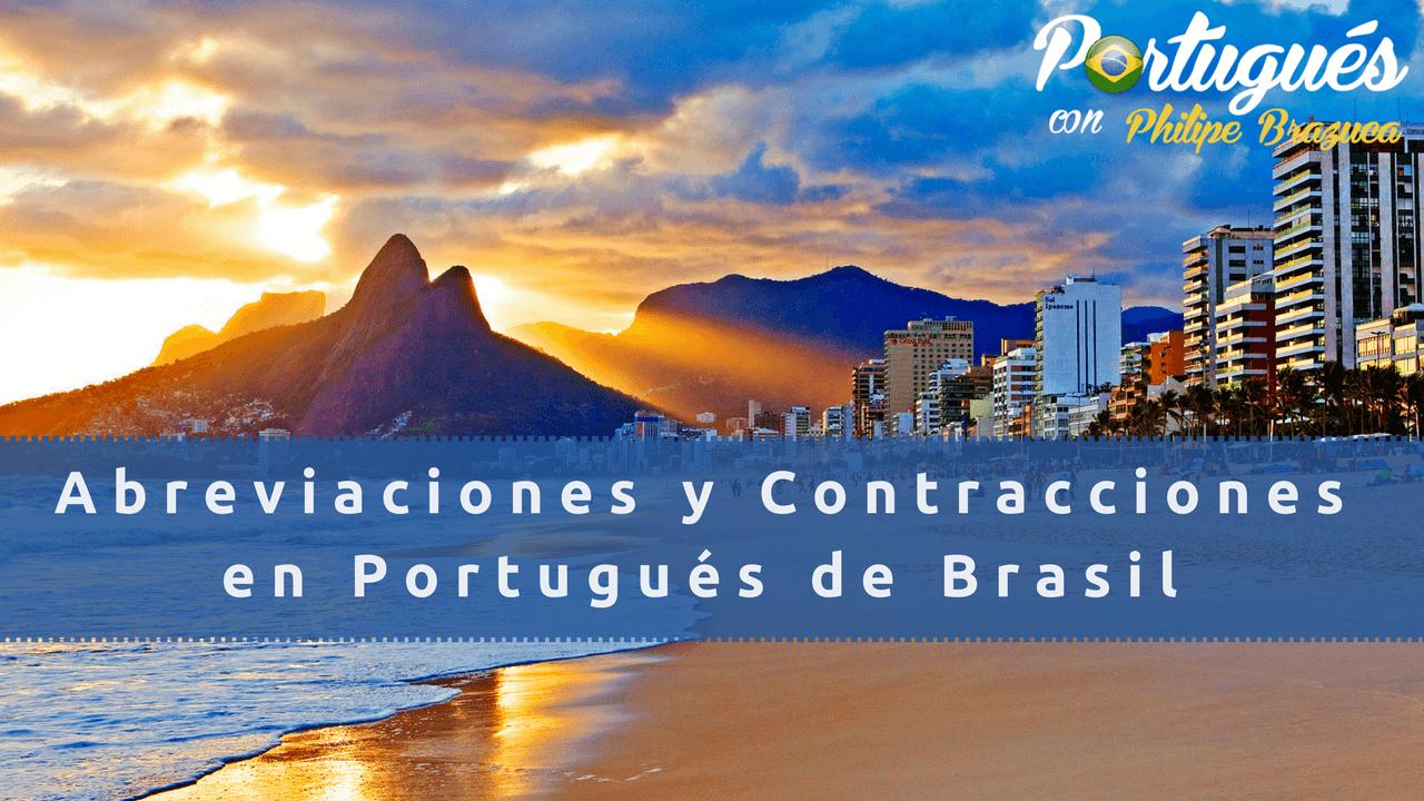 abreviaciones y contracciones en Portugués de Brasil