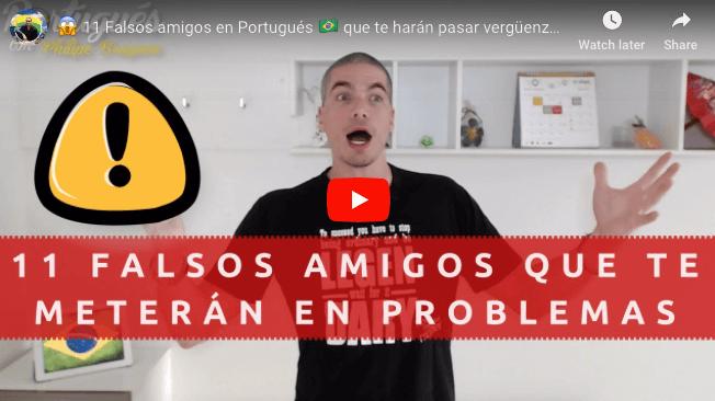 falsos amigos en portugués