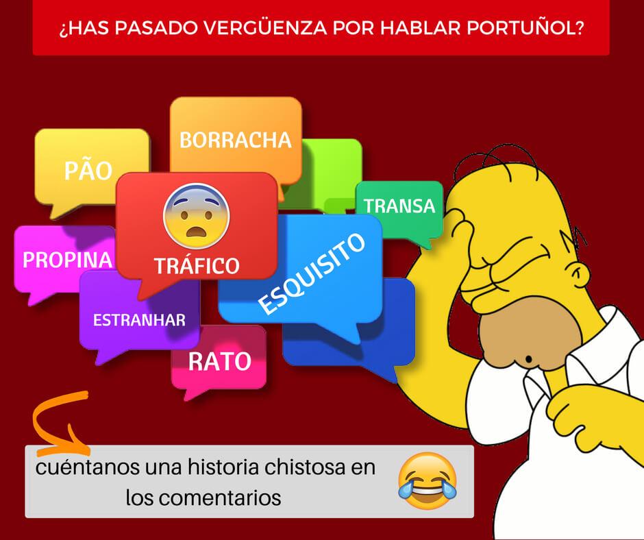 falsos amigos portugues español