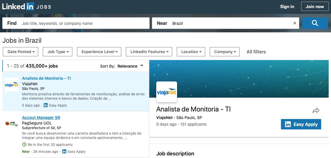 trabajar en brasil - ofertas
