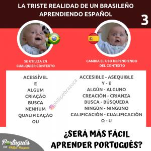 lista de palabras - diferencias entre portugués y español