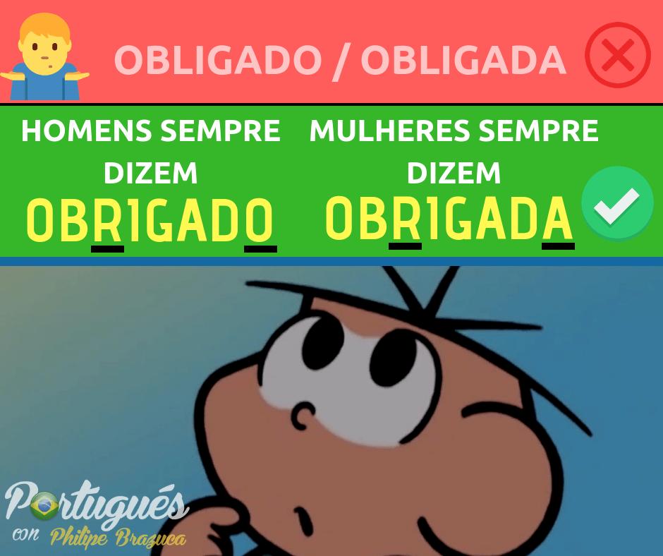 cómo decir gracias en portugués