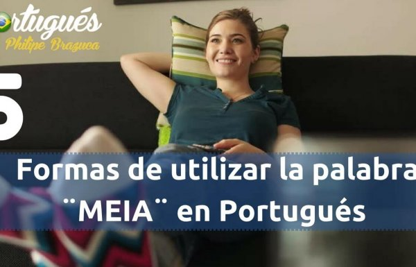 Los significados de la palabra MEIA en Portugués